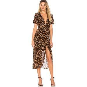 NWT Leopard Wrap Dress